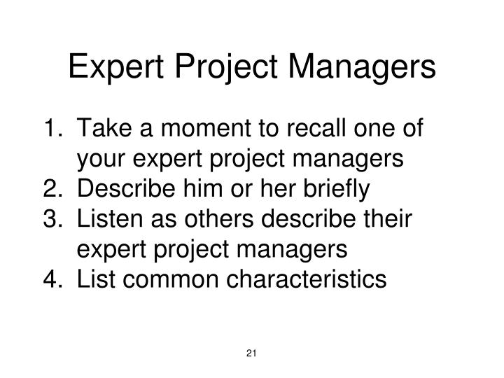 Expert Project Managers