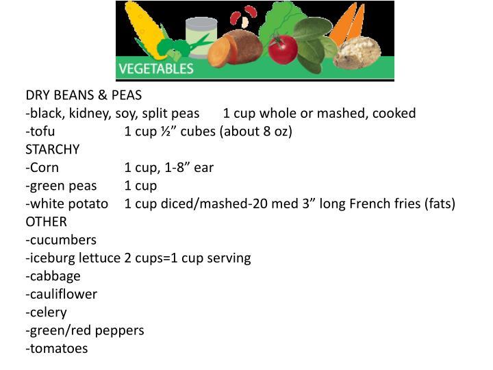 DRY BEANS & PEAS