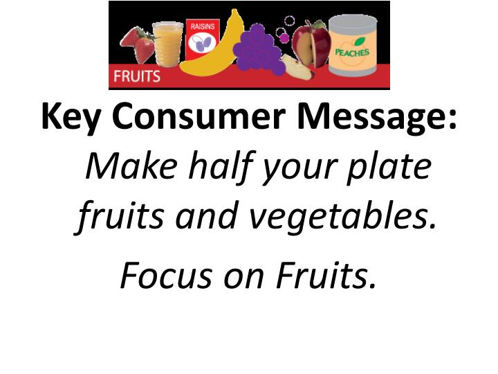 Key Consumer Message: