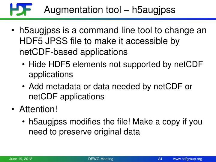 Augmentation tool – h5augjpss