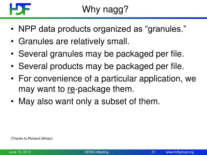 Why nagg?