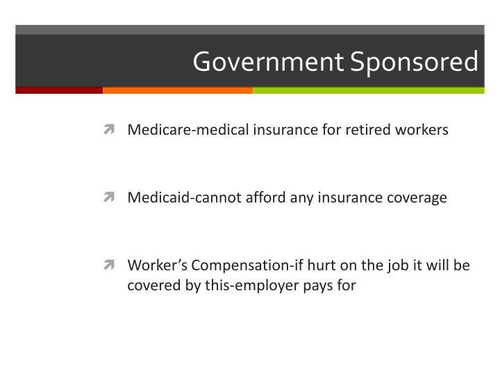 Government Sponsored