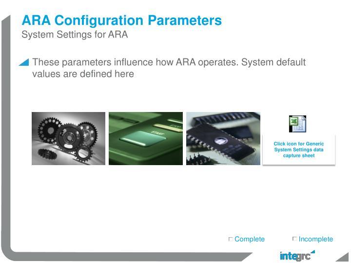 ARA Configuration Parameters