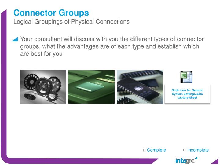 Connector Groups