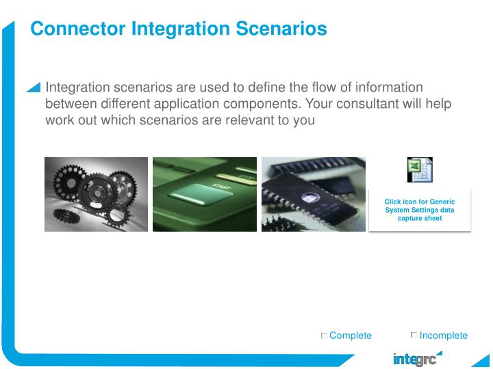 Connector Integration Scenarios