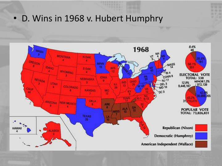 D. Wins in 1968 v. Hubert