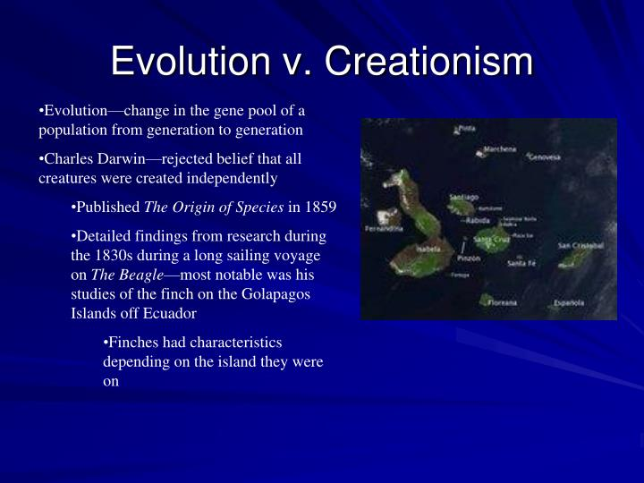 Evolution v. Creationism