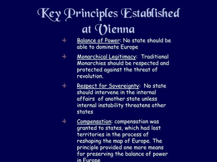 Key Principles Established