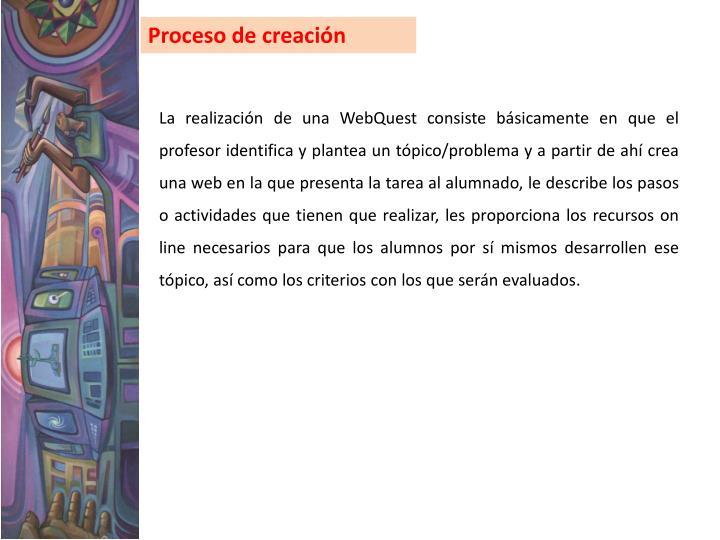 Proceso de creación