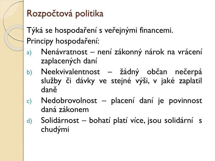 Rozpočtová politika