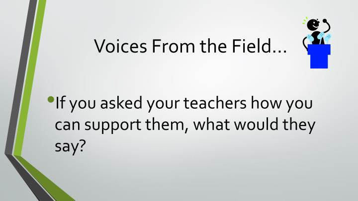 Voices From the Field…