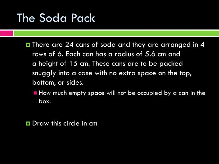 The soda pack