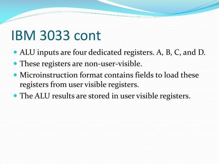 IBM 3033 cont