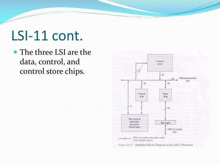 LSI-11 cont.