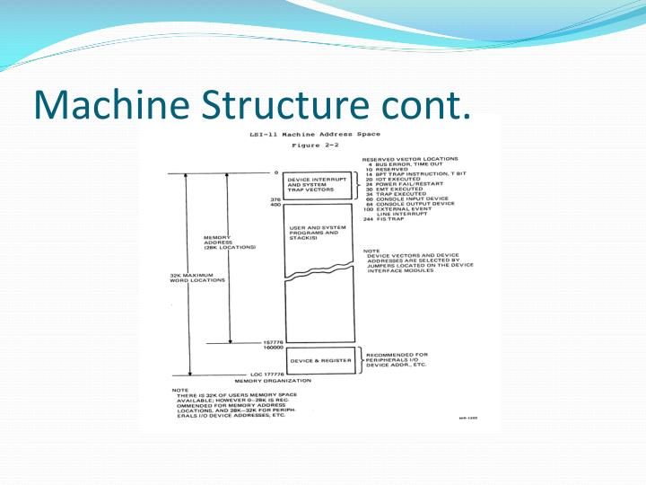 Machine Structure cont.