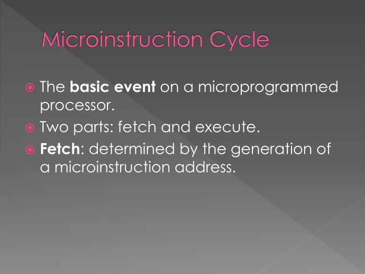 Microinstruction Cycle
