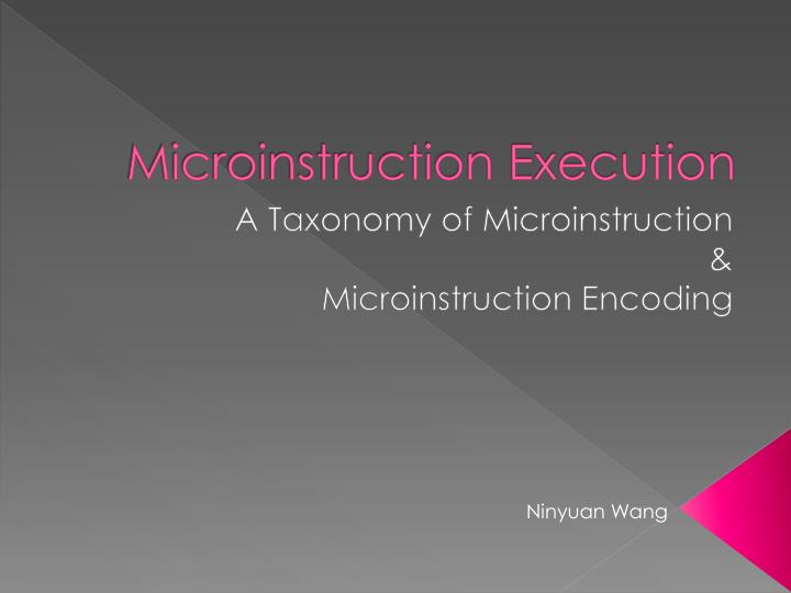 Microinstruction Execution