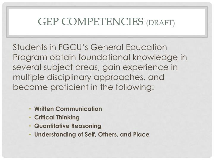 GEP Competencies