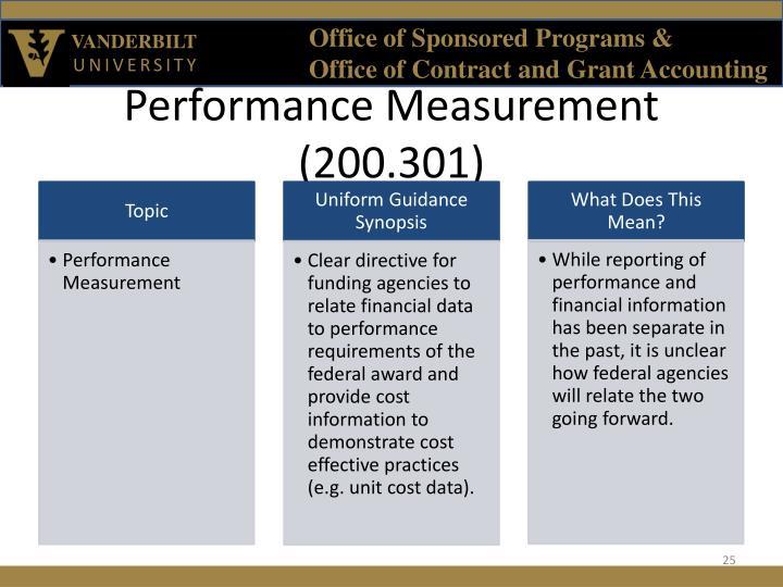 Performance Measurement (200.301)