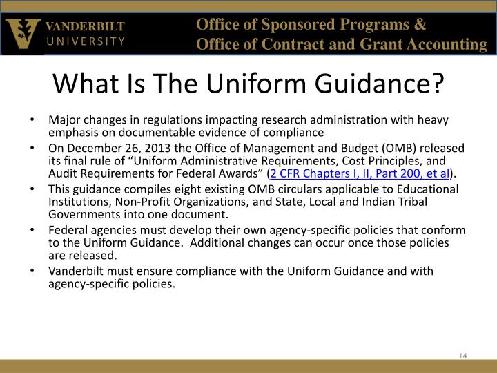 What Is The Uniform Guidance?