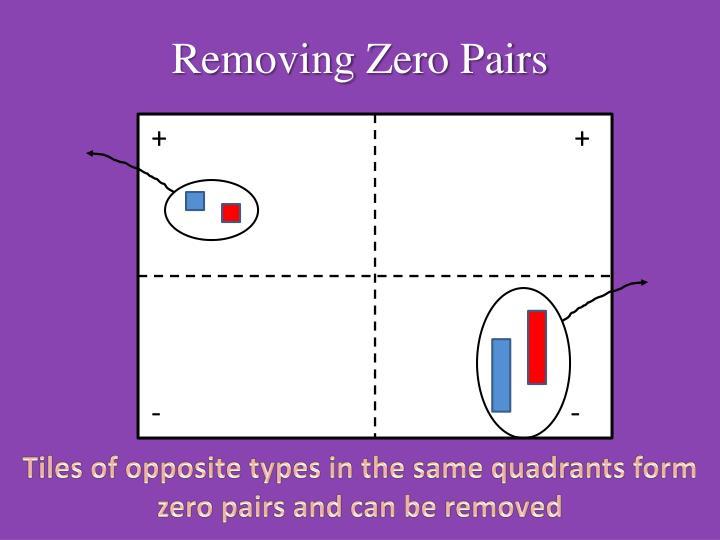 Removing Zero Pairs