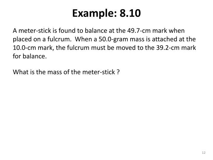 Example: 8.10