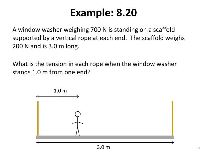 Example: 8.20