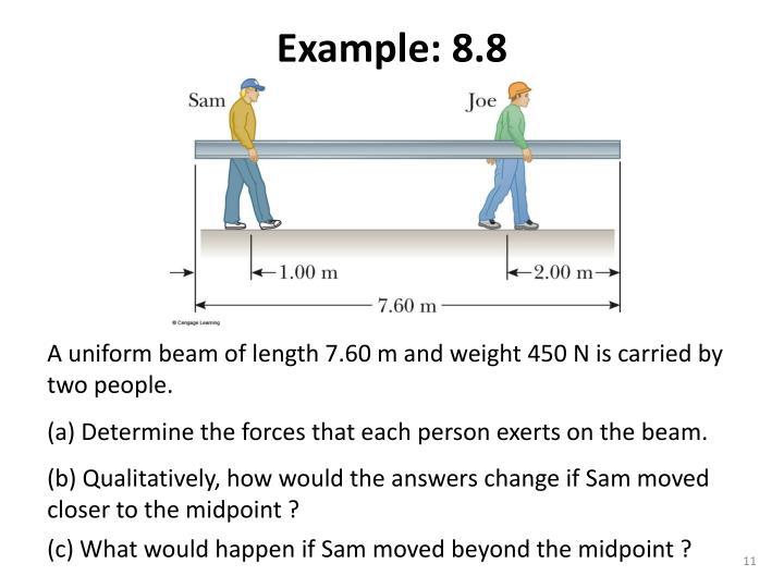 Example: 8.8