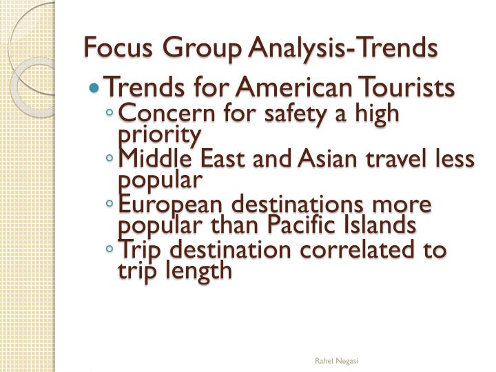 Trends for American Tourists