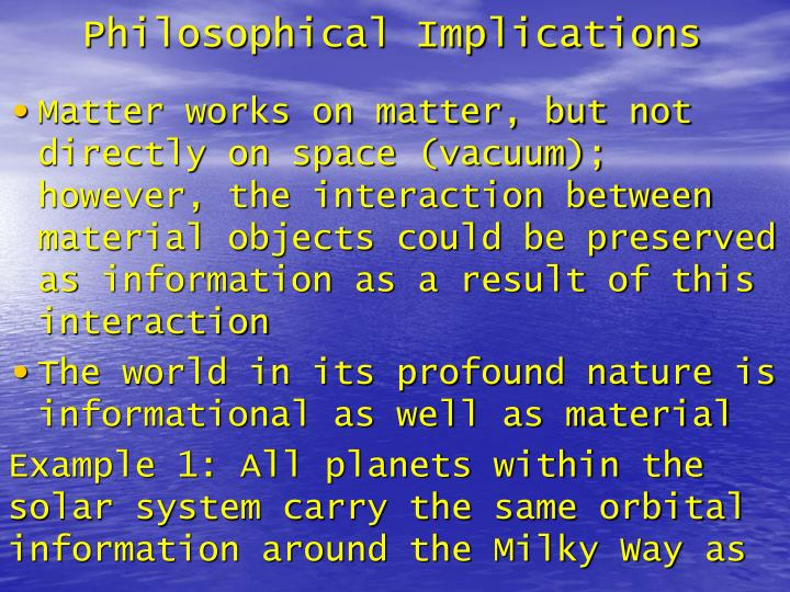 Philosophical Implications