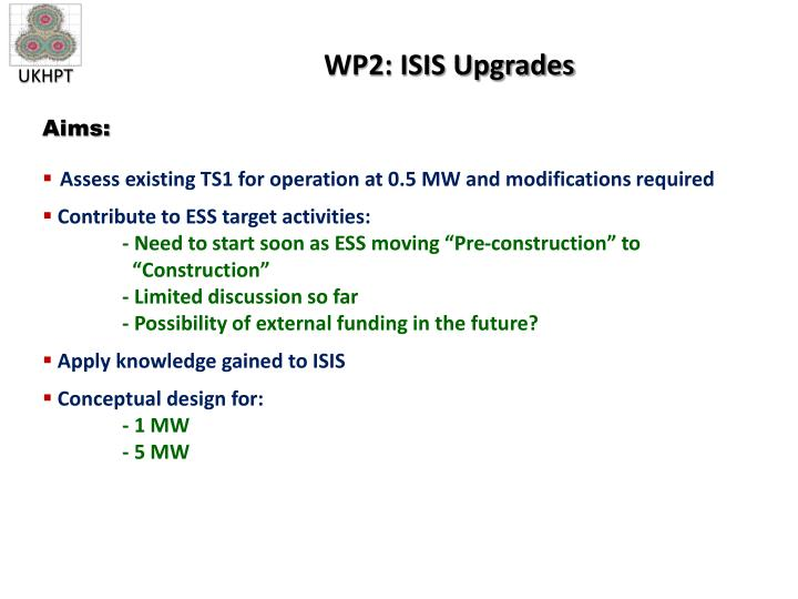 WP2: ISIS Upgrades