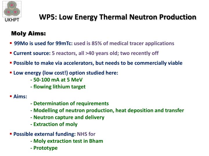 WP5: Low Energy Thermal Neutron Production