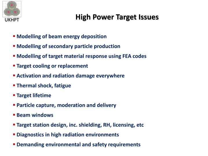 High Power Target Issues