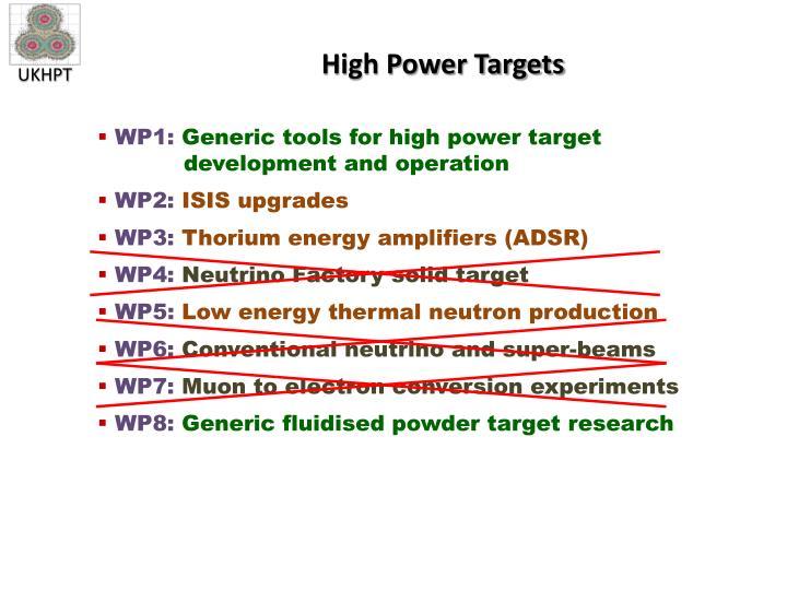 High Power Targets