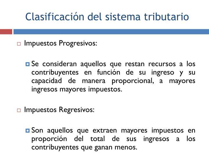 Impuestos Progresivos: