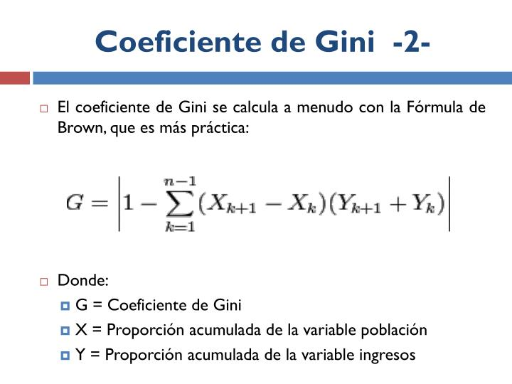 Coeficiente de Gini  -2-