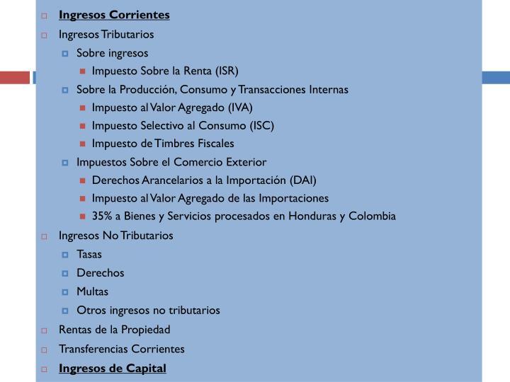 Ingresos Corrientes