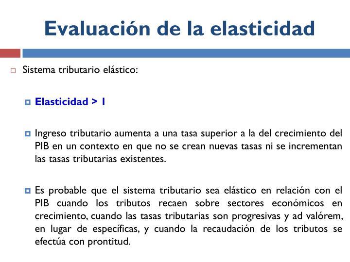 Evaluación de la elasticidad