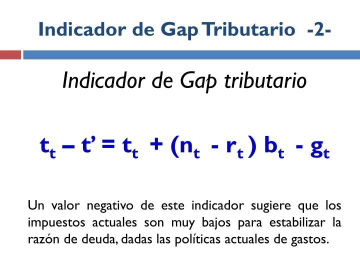 Indicador de Gap Tributario  -2-