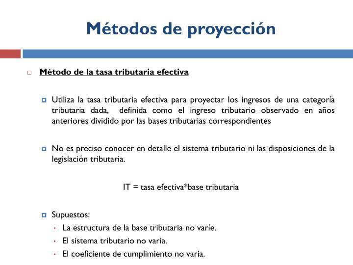 Métodos de proyección