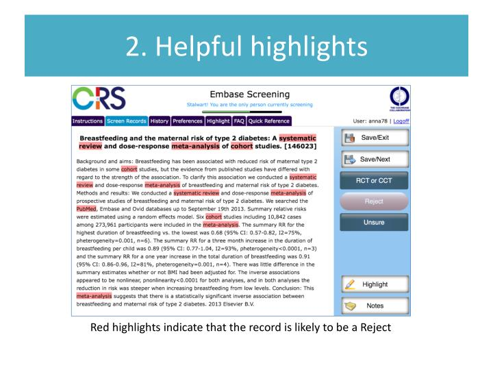 2. Helpful highlights