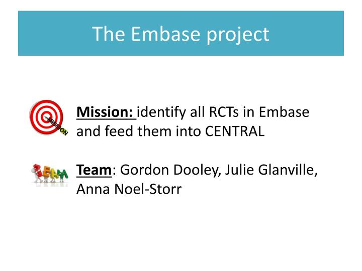 The embase project