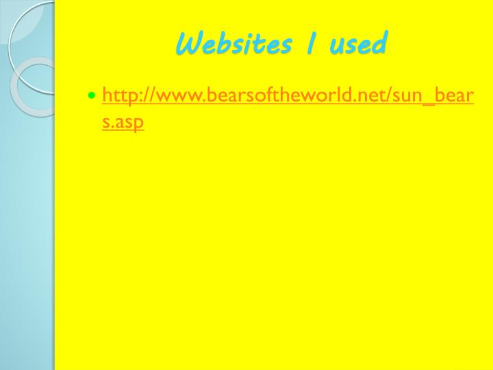 Websites I used