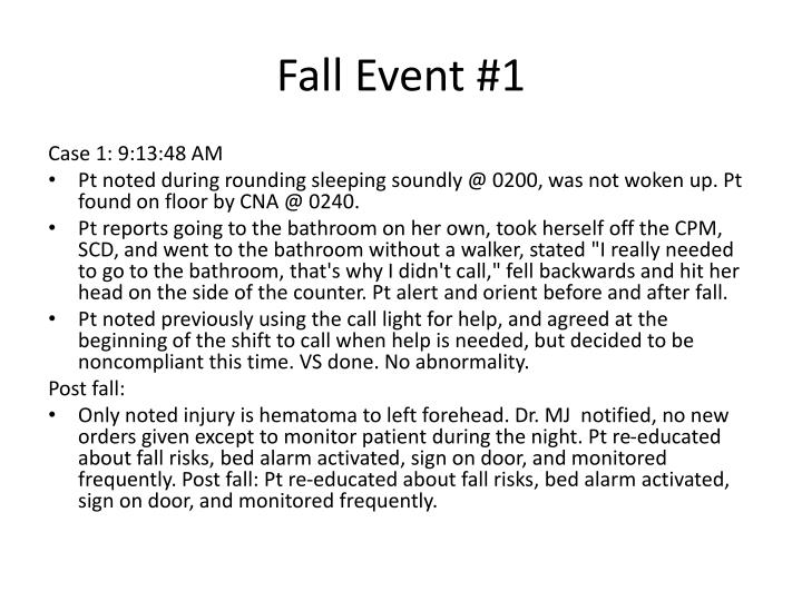 Fall Event #1