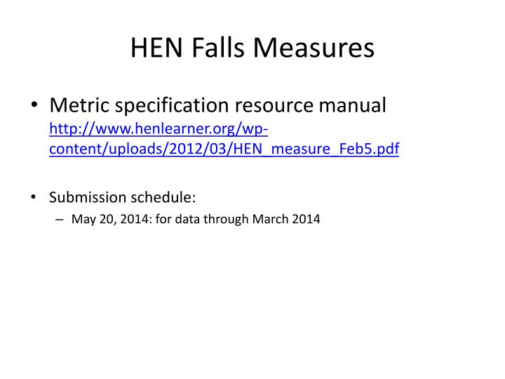 HEN Falls Measures