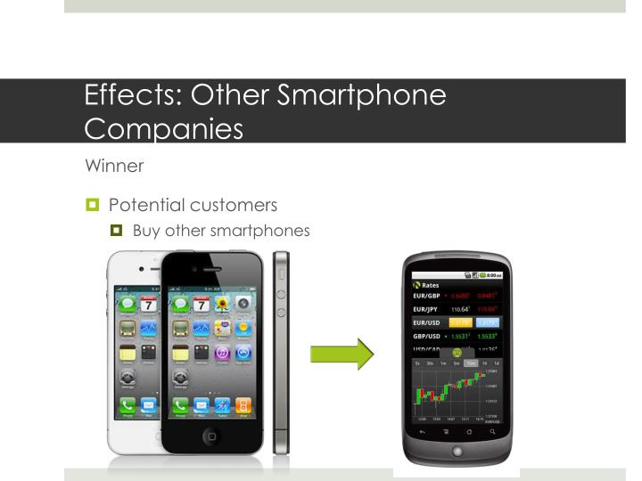 smartphone impacts Another incredible impact of the smartphone is its ability to bridge the technology and infrastructure gap that exists in the developing world cellular signal is far more practical than hardwiring telephone and data lines in many parts of the developing world.