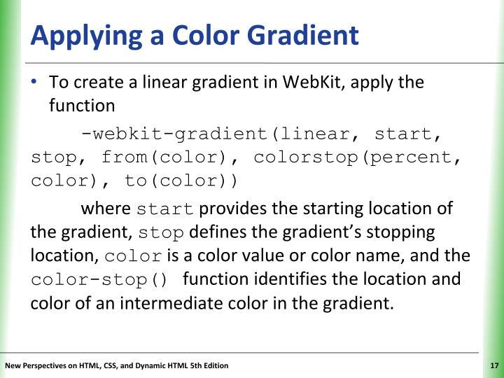 Applying a Color Gradient