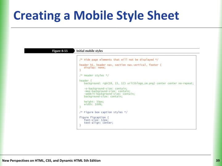 Creating a Mobile Style Sheet