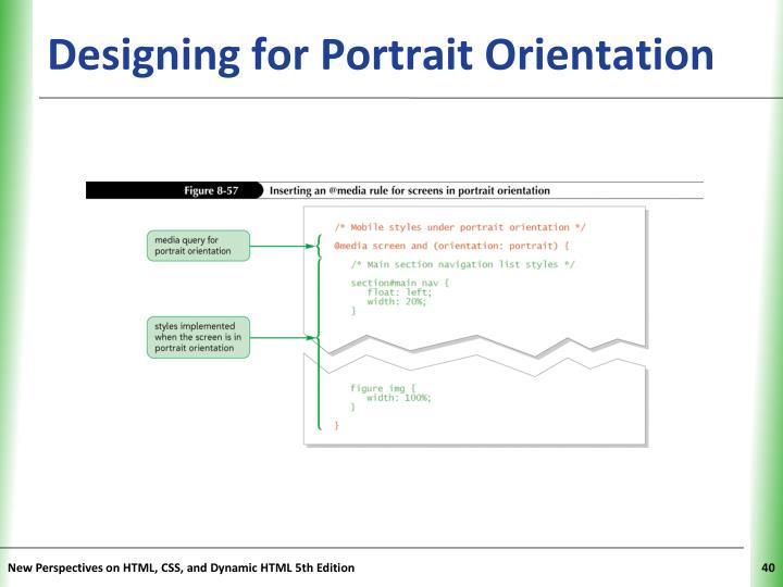 Designing for Portrait Orientation