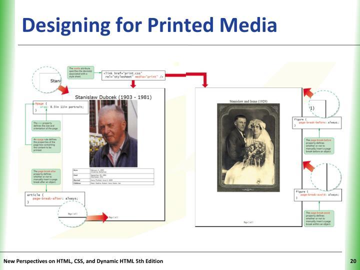 Designing for Printed Media